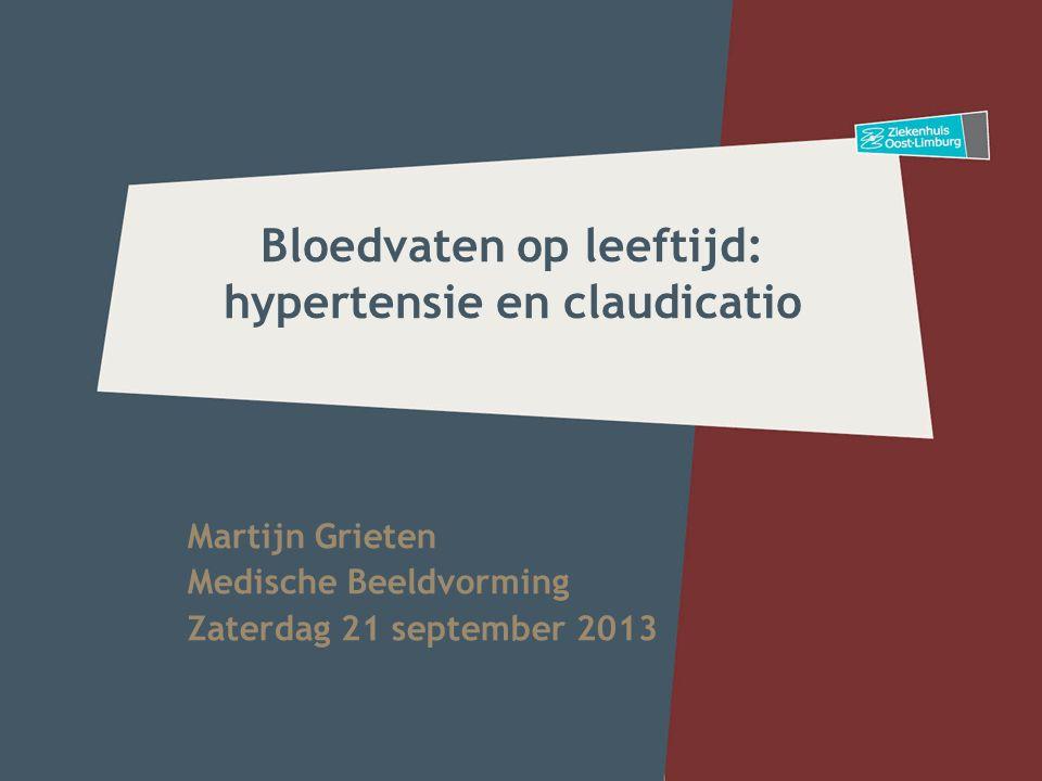 Bloedvaten op leeftijd: hypertensie en claudicatio