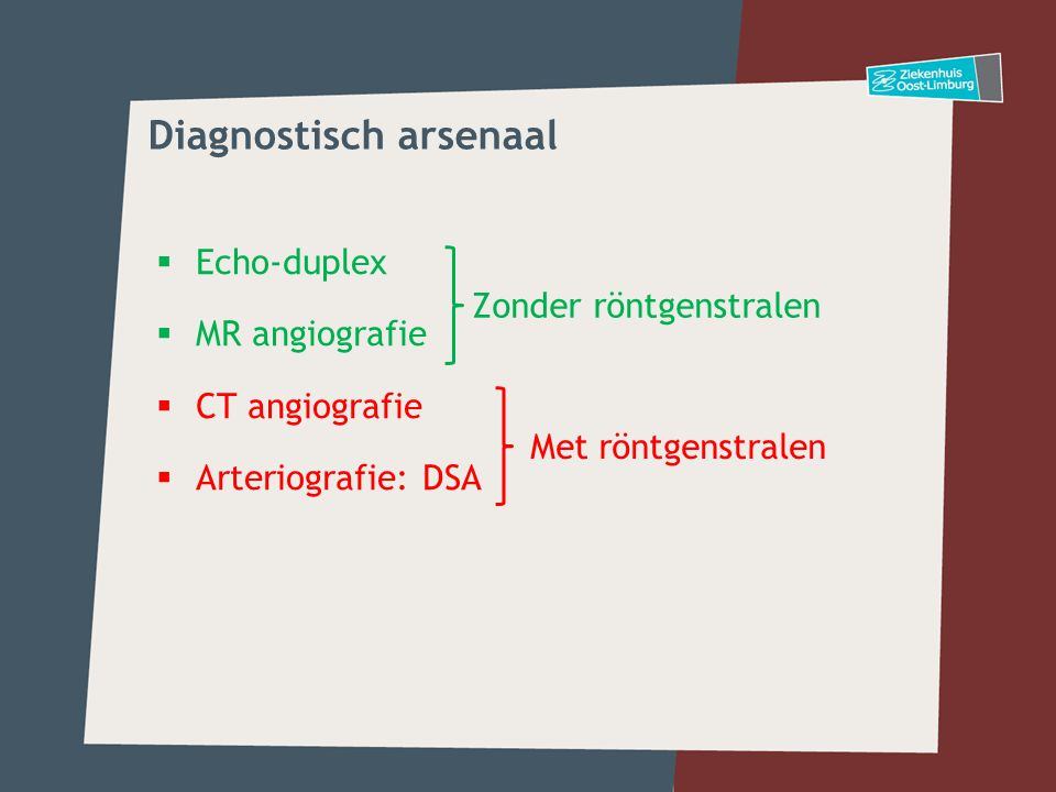 Diagnostisch arsenaal