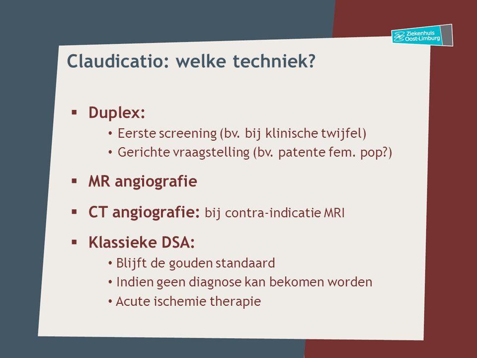 Claudicatio: welke techniek