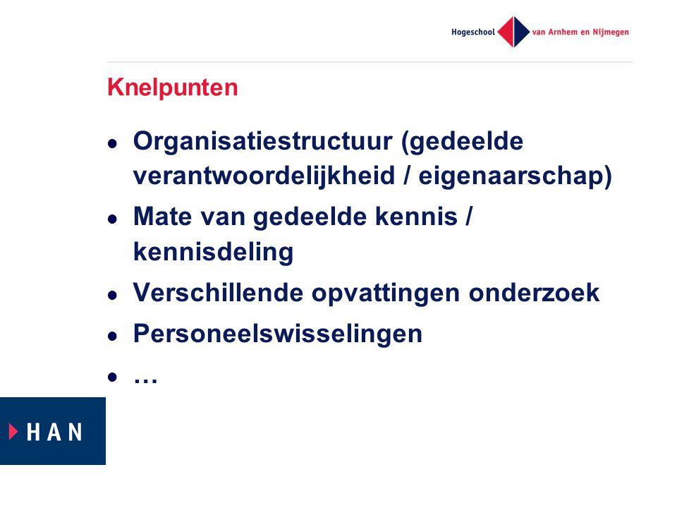 Organisatiestructuur (gedeelde verantwoordelijkheid / eigenaarschap)