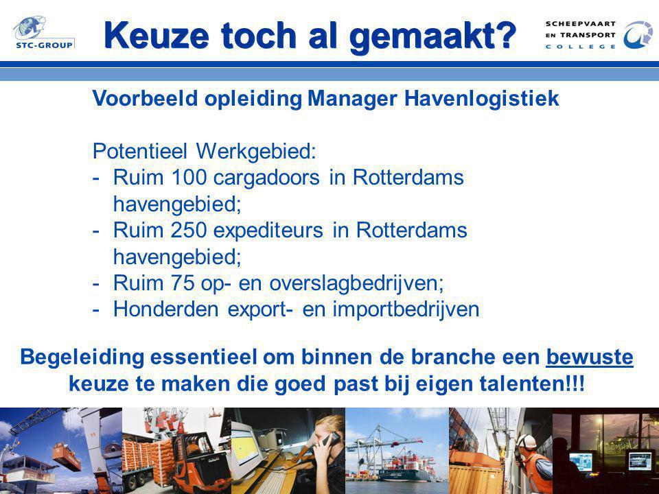 Keuze toch al gemaakt Voorbeeld opleiding Manager Havenlogistiek
