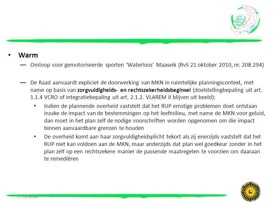 Warm Omloop voor gemotoriseerde sporten 'Waterloos' Maaseik (RvS 21 oktober 2010, nr. 208.294)