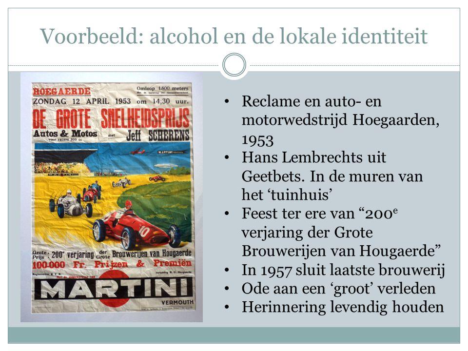 Voorbeeld: alcohol en de lokale identiteit