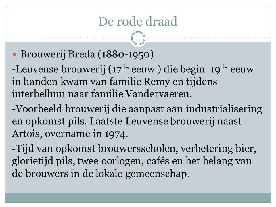 De rode draad Brouwerij Breda (1880-1950)