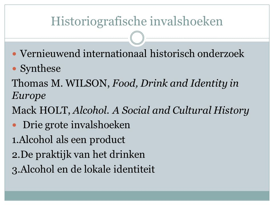 Historiografische invalshoeken