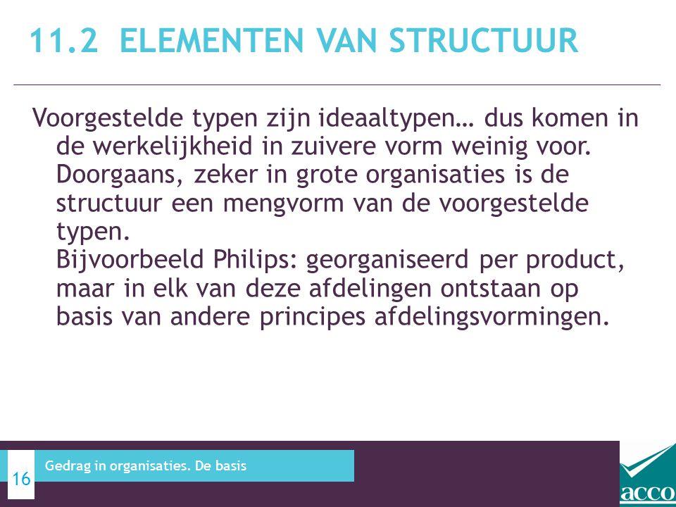 11.2 Elementen van structuur