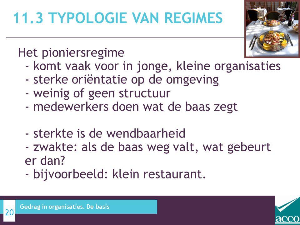 11.3 Typologie van regimes