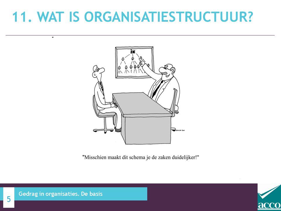11. Wat is organisatiestructuur
