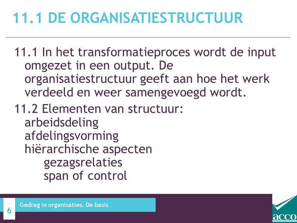 11.1 De organisatiestructuur