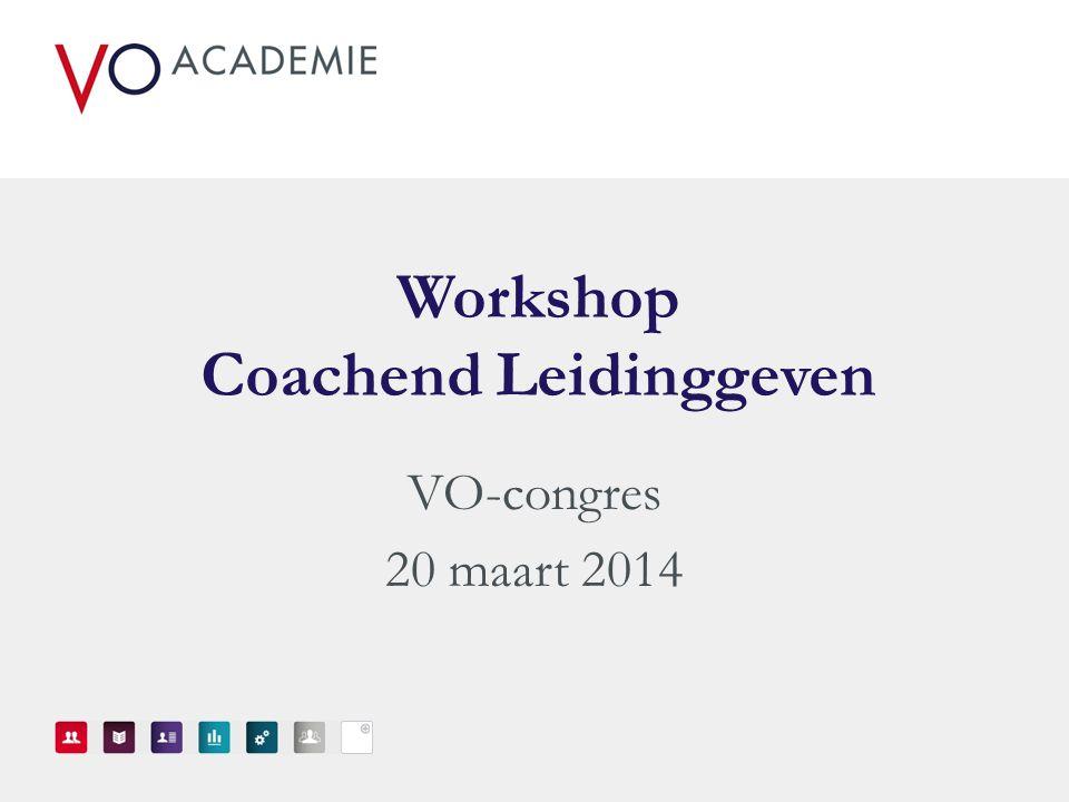 Workshop Coachend Leidinggeven
