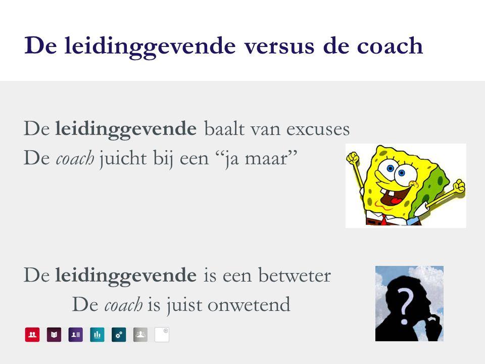 De leidinggevende versus de coach