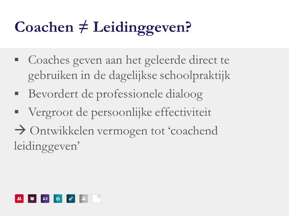 Coachen ≠ Leidinggeven