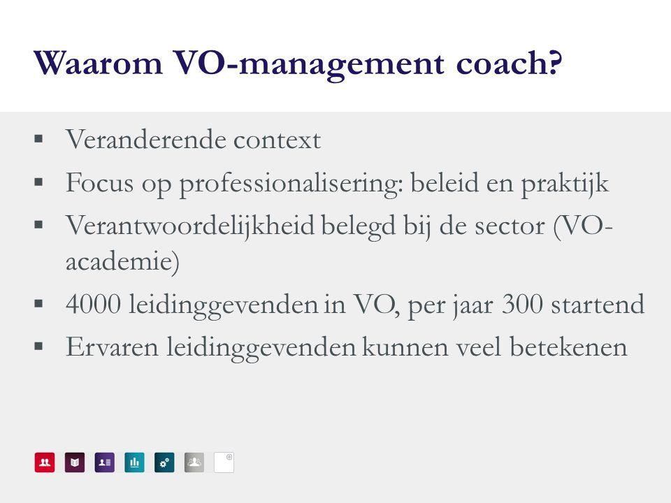 Waarom VO-management coach