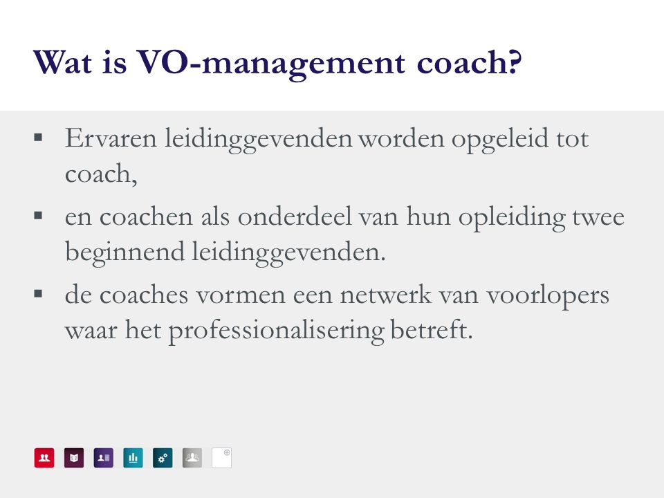 Wat is VO-management coach