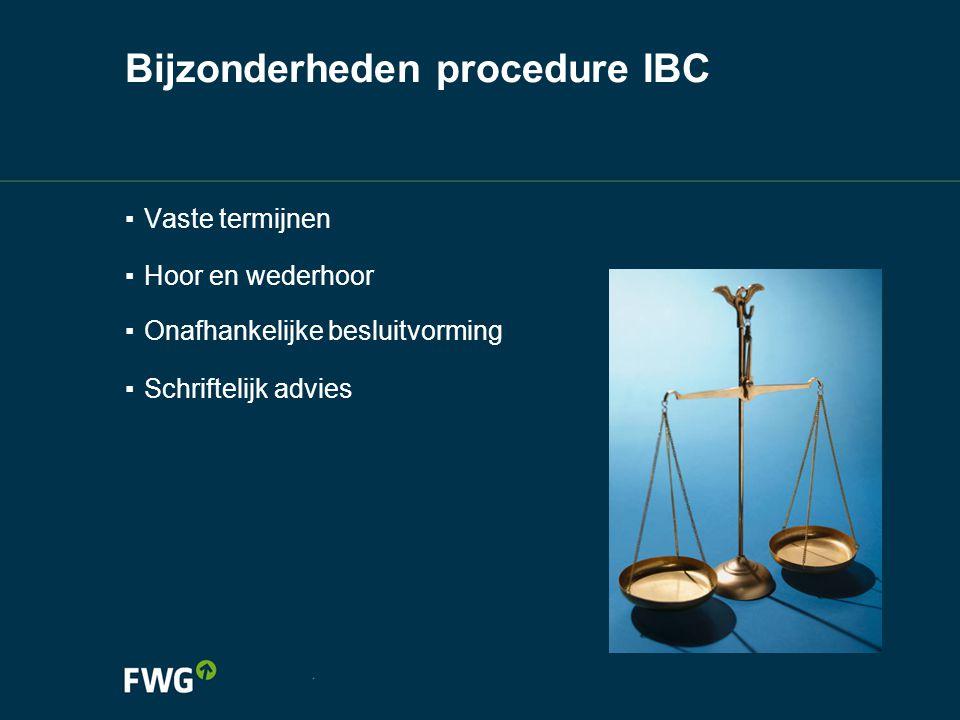 Bijzonderheden procedure IBC
