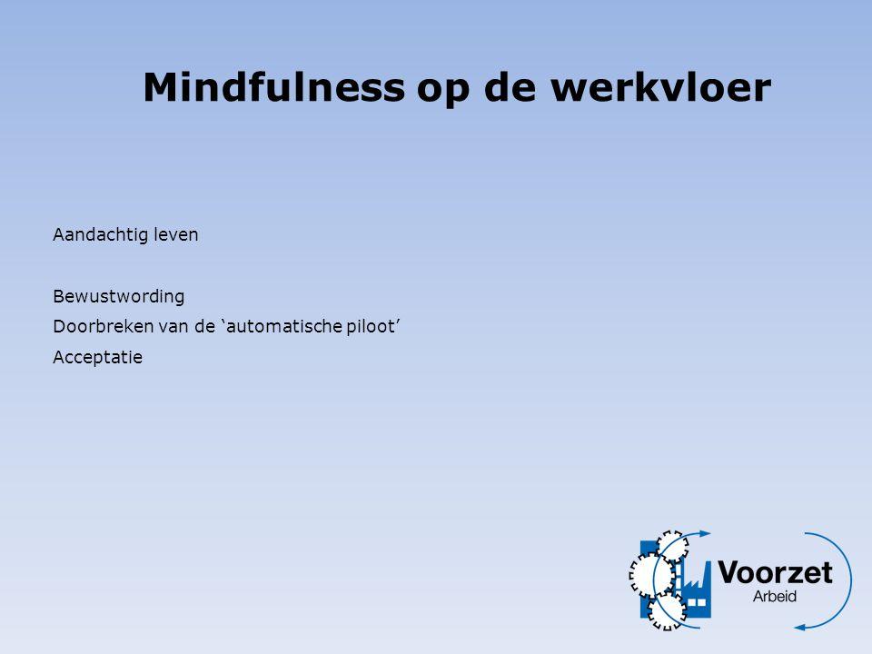 Mindfulness op de werkvloer