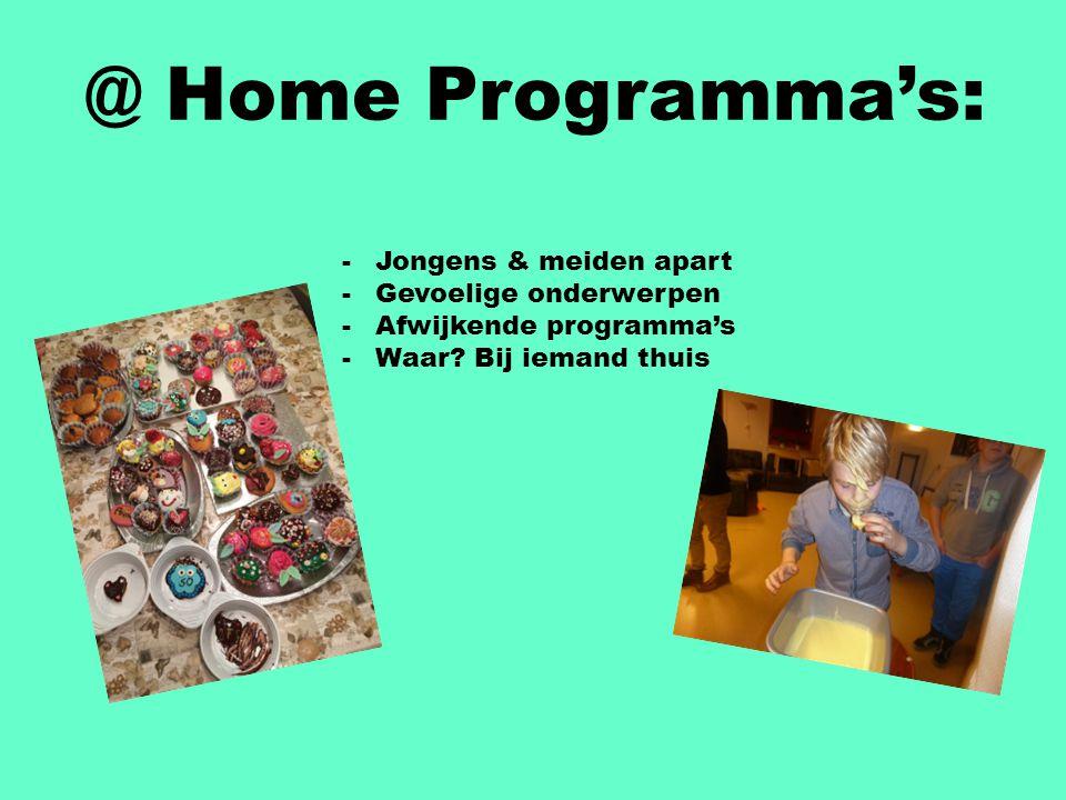@ Home Programma's: Jongens & meiden apart Gevoelige onderwerpen