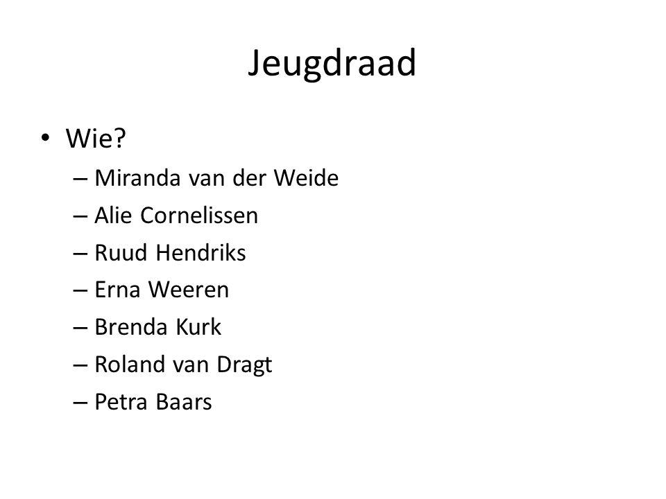 Jeugdraad Wie Miranda van der Weide Alie Cornelissen Ruud Hendriks