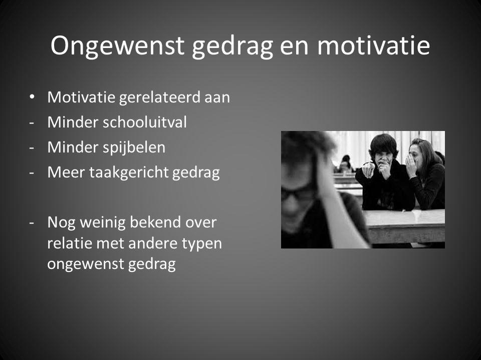 Ongewenst gedrag en motivatie