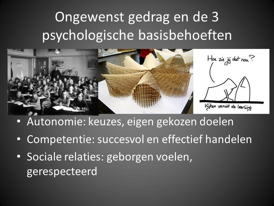 Ongewenst gedrag en de 3 psychologische basisbehoeften