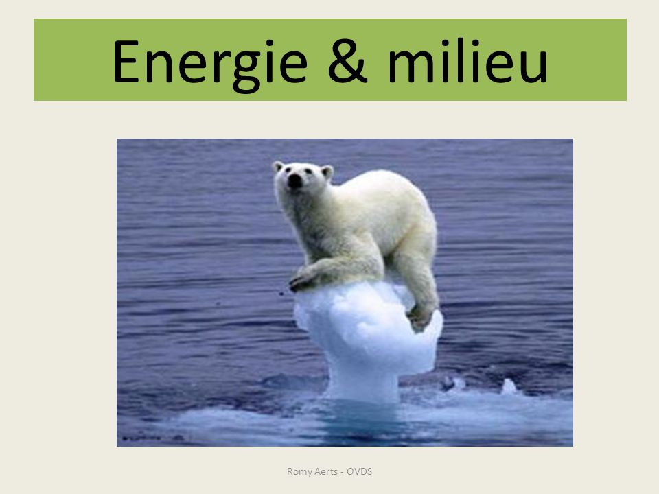 Energie & milieu Romy Aerts - OVDS