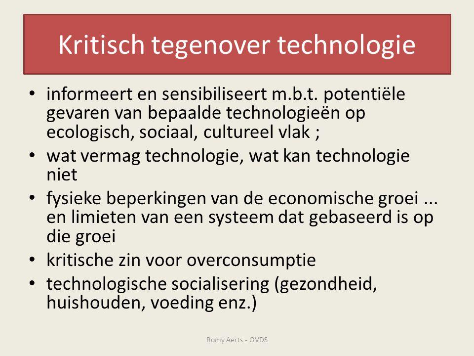 Kritisch tegenover technologie