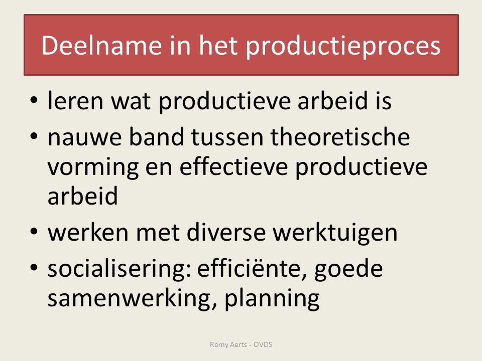 Deelname in het productieproces