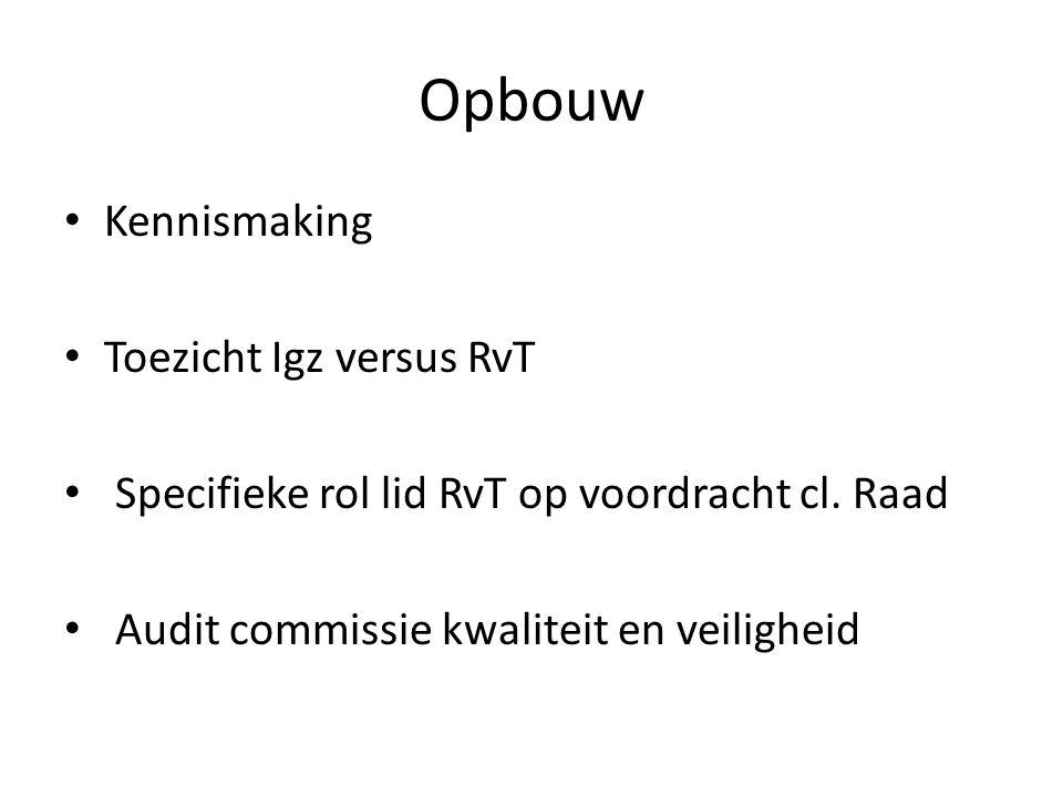 Opbouw Kennismaking Toezicht Igz versus RvT