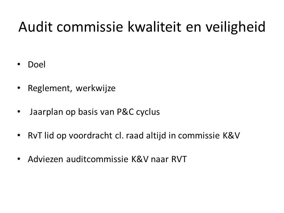 Audit commissie kwaliteit en veiligheid