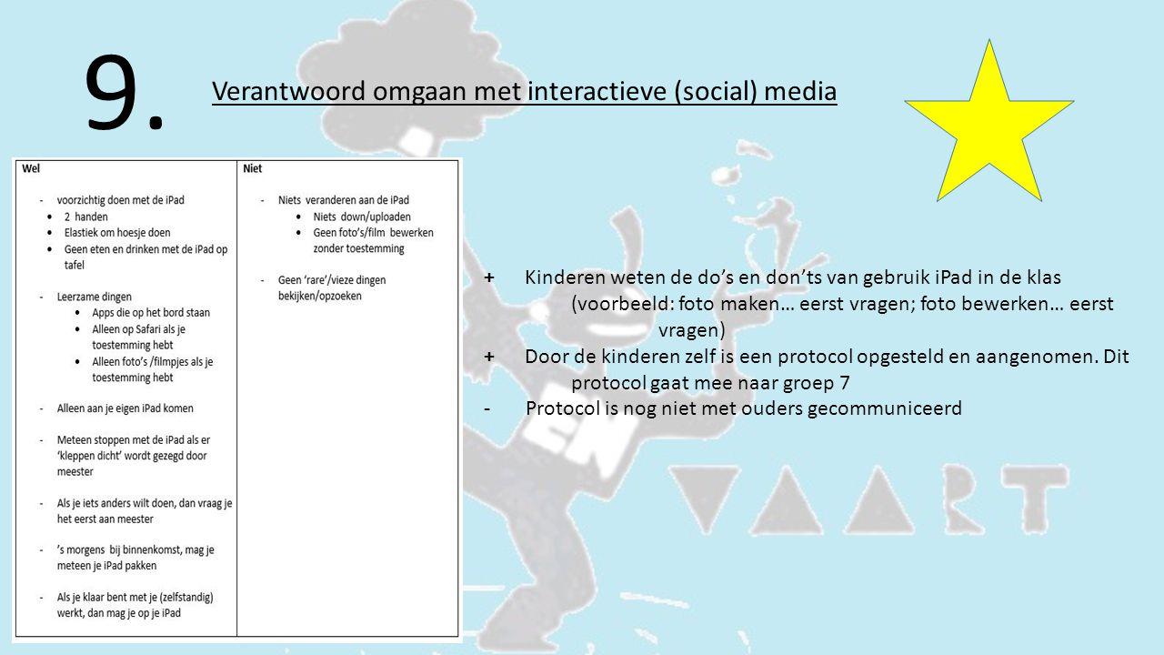 9. Verantwoord omgaan met interactieve (social) media