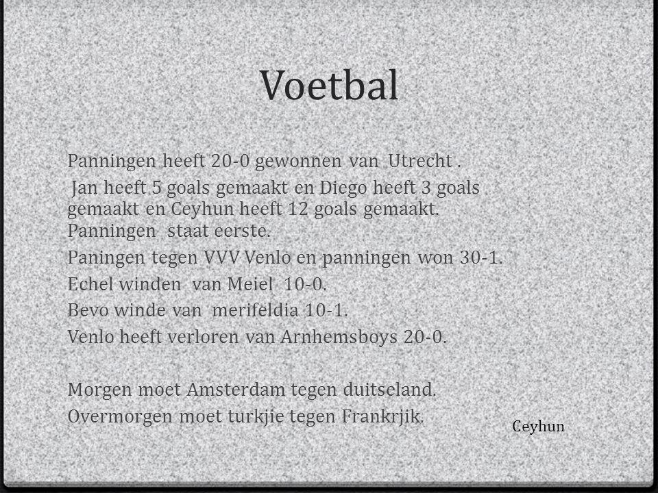 Voetbal Panningen heeft 20-0 gewonnen van Utrecht .