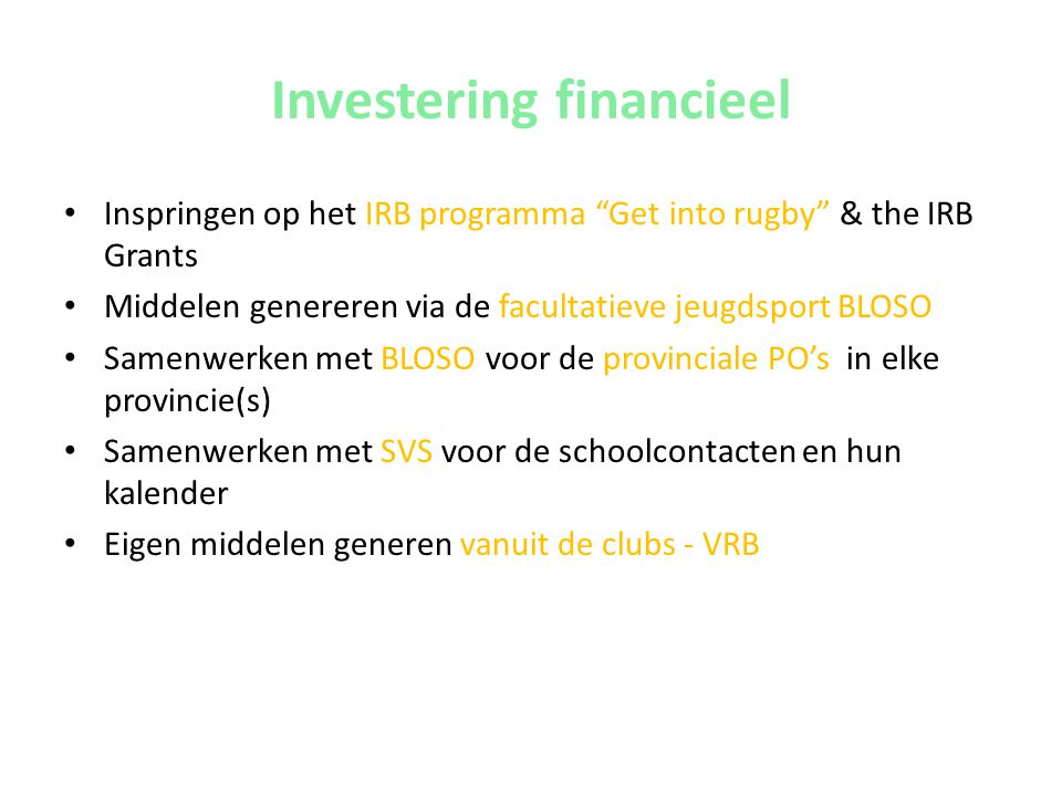Investering financieel
