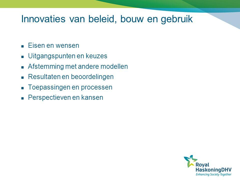 Innovaties van beleid, bouw en gebruik