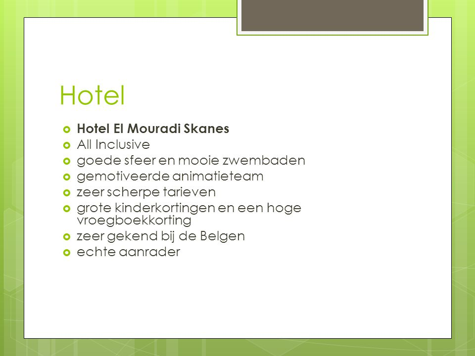 Hotel Hotel El Mouradi Skanes All Inclusive