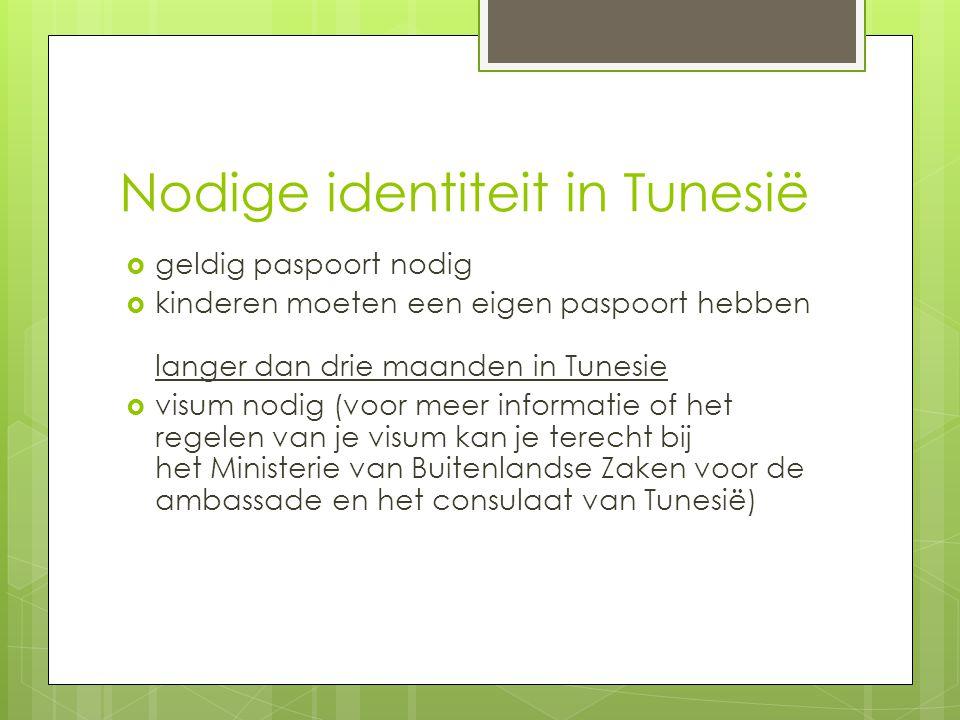 Nodige identiteit in Tunesië