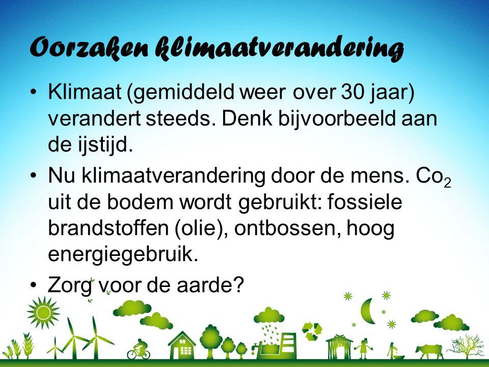 Oorzaken klimaatverandering
