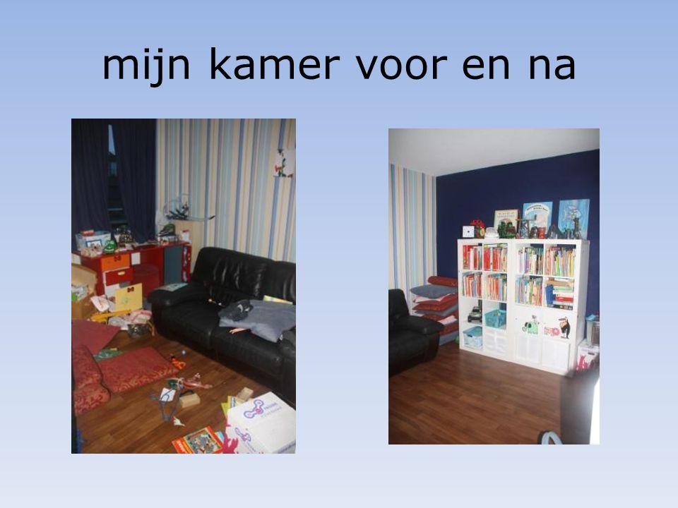mijn kamer voor en na