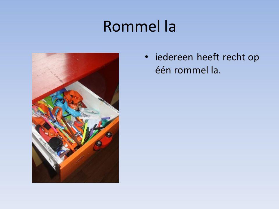 Rommel la iedereen heeft recht op één rommel la.