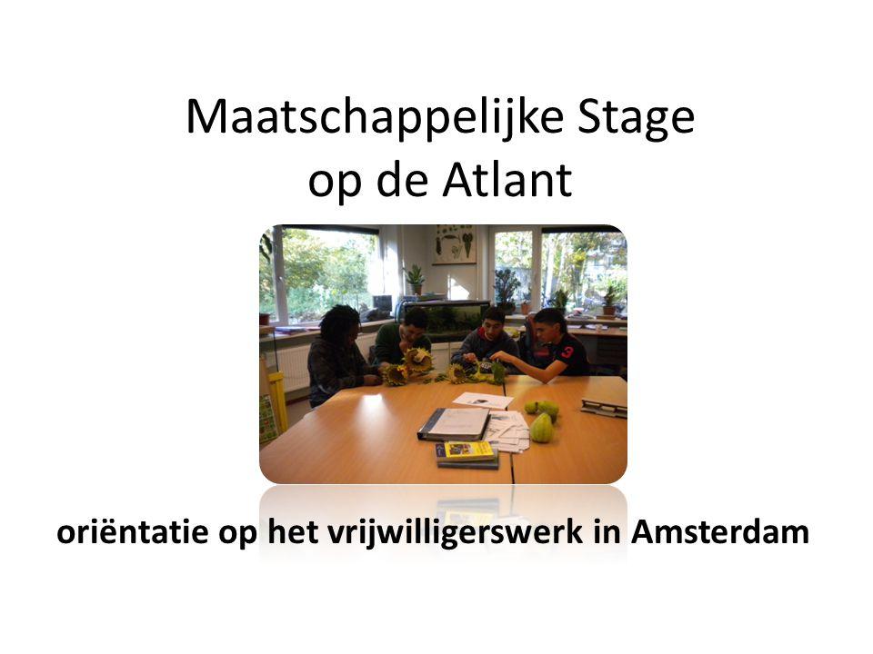 Maatschappelijke Stage op de Atlant