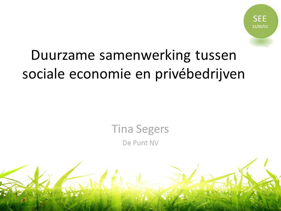 Duurzame samenwerking tussen sociale economie en privébedrijven