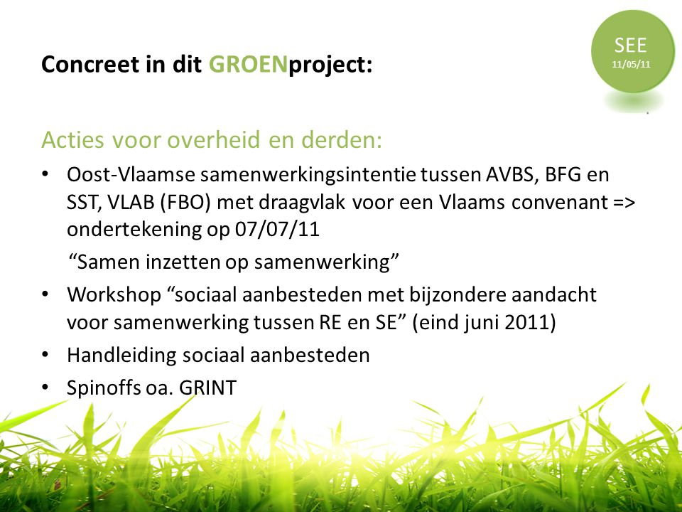Concreet in dit GROENproject: