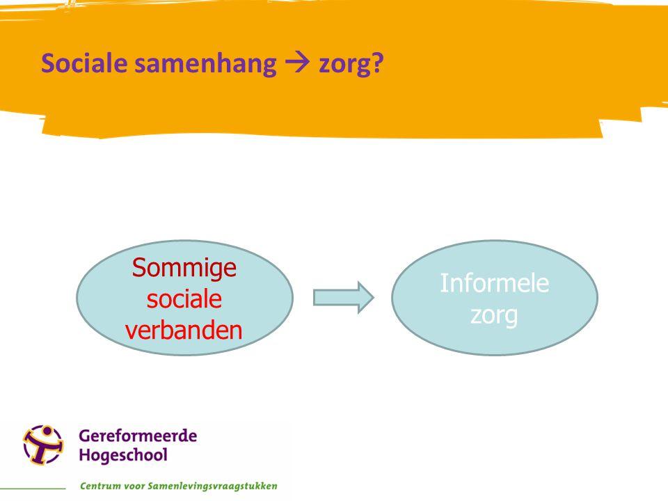 Sociale samenhang  zorg