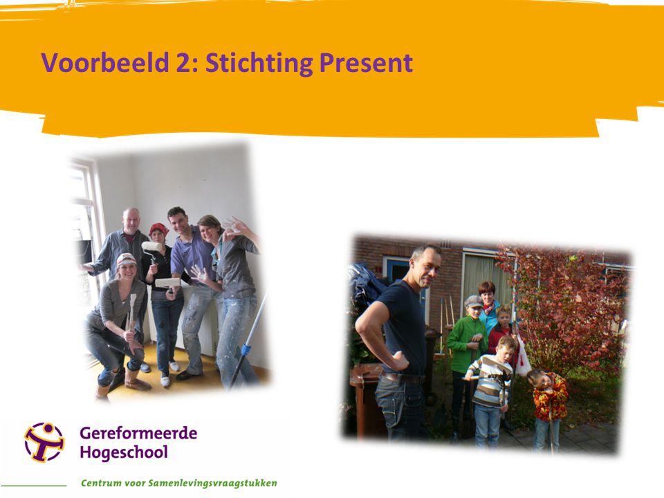 Voorbeeld 2: Stichting Present