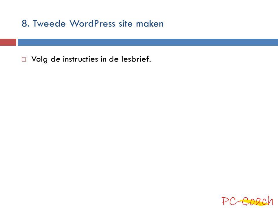 8. Tweede WordPress site maken