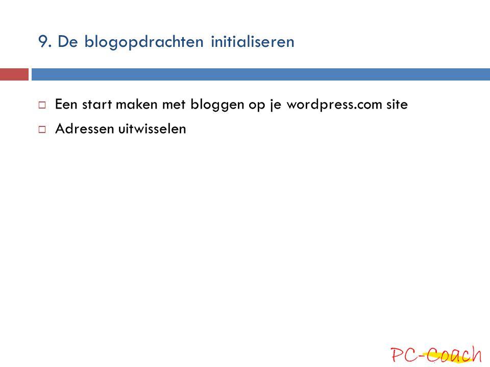 9. De blogopdrachten initialiseren