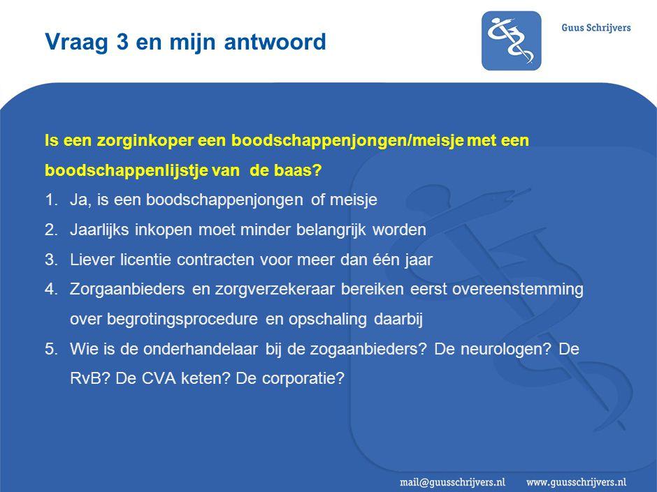 Vraag 4 en mijn antwoord Wat is een bestuursakkoord met het kabinet waard, als zorgverzekeraars en zorgaanbieders toch hun eigen gang gaan