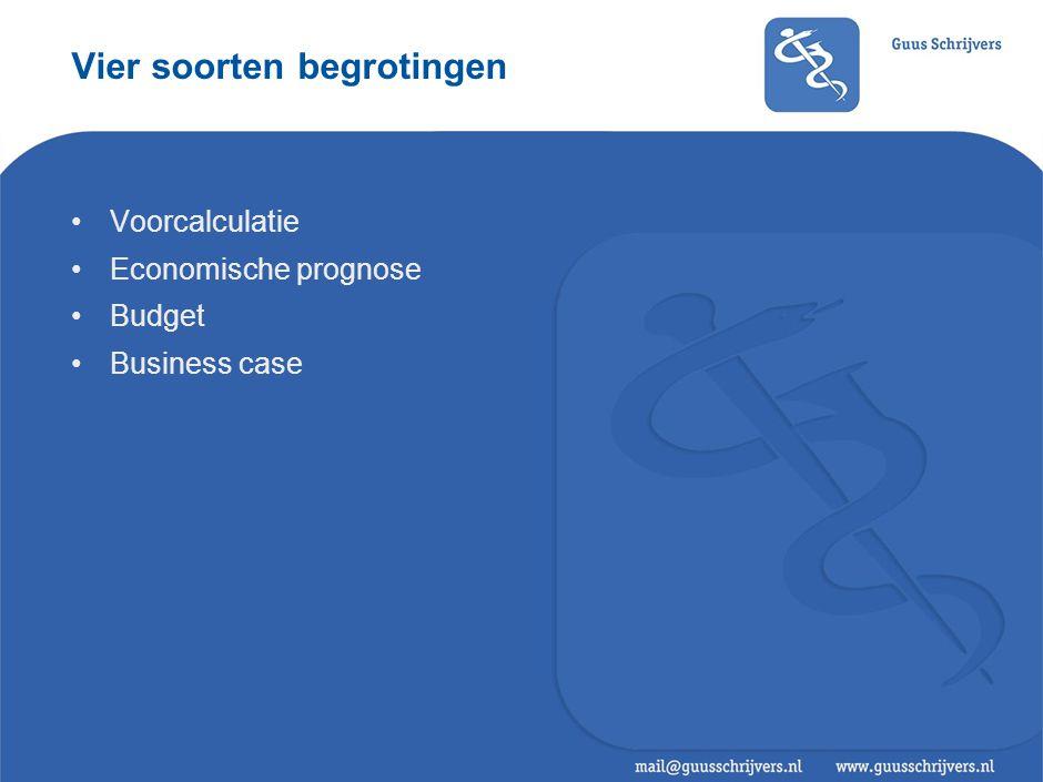 Vier soorten begrotingen
