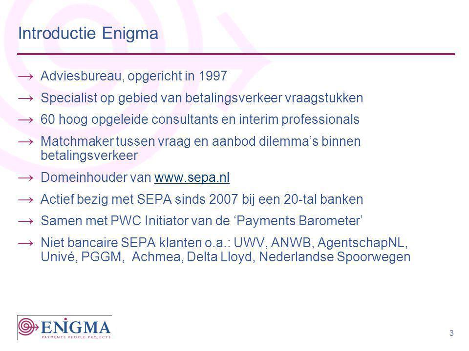 Introductie Enigma Adviesbureau, opgericht in 1997