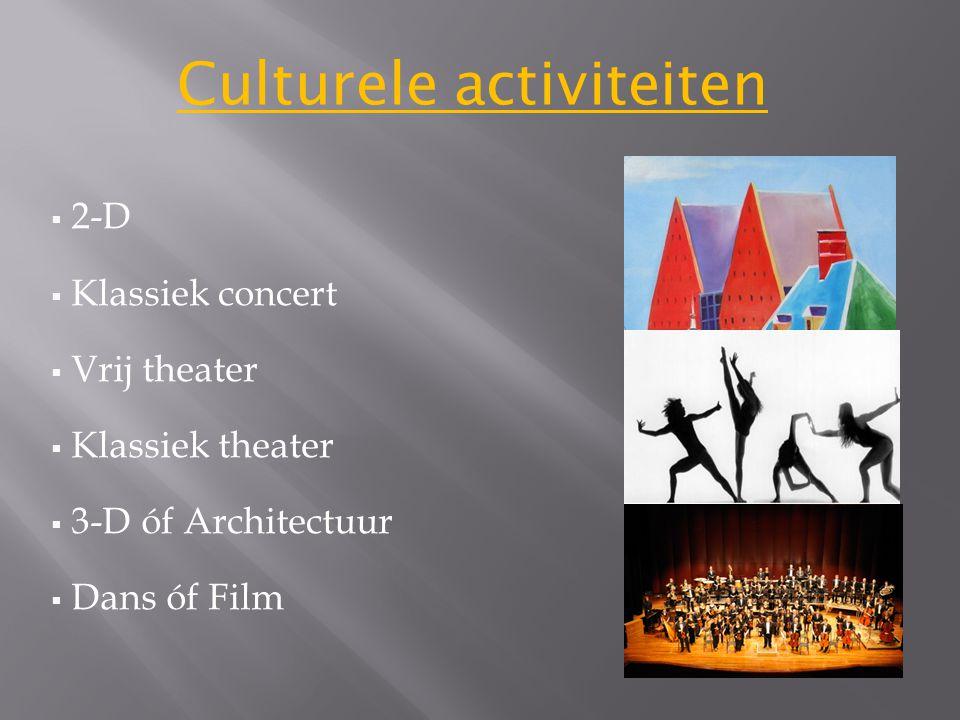 Culturele activiteiten