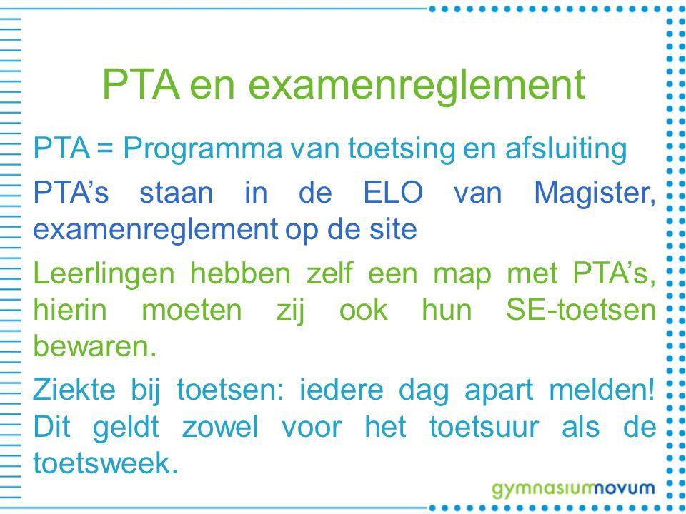 PTA en examenreglement